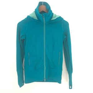 lululemon Stride Jacket Brushed Luon Blue size 2
